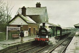 Railway Postcard SECR C Class 592 SHEFFIELD PARK Bluebell Southern SR 0-6-0 Loco - Stations With Trains