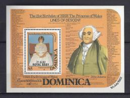 FAMILIAS REALES - DOMINICA 1982 - Yvert #H77 - MNH ** - Familias Reales