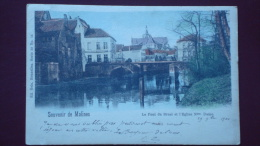 Souvenir De MALINES - Le Pont Du Bruel  Et L'église Notre Dame En 1900 - Machelen
