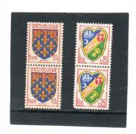 FRANCE   2 Fois 2 Timbres Se Tenant     Année 1951 Et 1959     Y&T: 899 Et 1195   (neufs Sans Charnière) - Francia