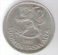 FINLANDIA 1 MARKKA 1991 - Finlandia