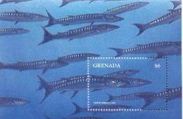 GRENADA   2649  MINT NEVER HINGED SOUVENIR SHEET OF FISH-MARINE LIFE  #   300-4  ( - Fische