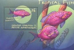 GRENADA & GR   2171 MINT NEVER HINGED SOUVENIR SHEET OF FISH-MARINE LIFE  #   344-5 ( - Vissen