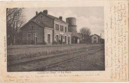 CPA 02 CONDE EN BRIE La Gare Du Chemin De Fer 1903 - France