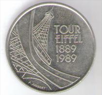 FRANCIA 5 FRANCHI 1989 - TOUR EIFFEL 1889-1989 - Francia