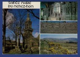 29 PLOMODIERN Chapelle Sainte Marie Du Menez-Hom, Clocher, Sablière Représentant Scène Labour, Sommet Menez-Hom 4 Vues - Plomodiern