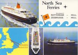 Ansichtkaart North Sea Ferries - Rotterdam