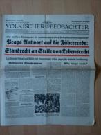 Völkischer Beobachter: Prags Antwort Auf Die Führerrede, 14.9.1938 ! - Tedesco