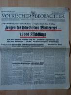 Völkischer Beobachter: Zeugen Des Tschechischen Blutterros-15000 Flüchtlinge, 17.9.1938 ! - Tedesco