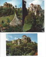 3 CPM - LE CHATEAU DE JOUX (25) Le Fort, Le Chateau  ( La Cluse Et Mijoux) - Non Classés