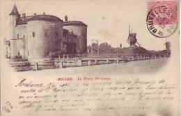 BELGIQUE - BRUGES - (circulé En 1900) (moulin) La Porte Ste Croix - Pas D´éditeur - D10 X - Brugge