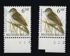 Plaatnrs. Rietzanger Flu - 1985-.. Birds (Buzin)