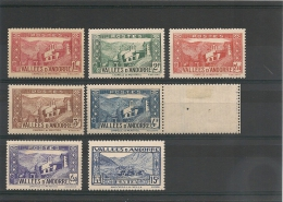ANDORRE  Années 1937/43 N° Y/T  -77-82-85-88/91**