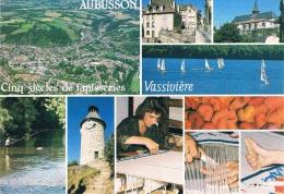 AUBUSSON, Cinq Siècles De Tapisseries, VASSIVIERE - Vue Générale, Pont De La Terrade, Aglise, Lac De Vassivière.... - Aubusson