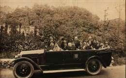 CPA Photo  -  Automobile-Autocar (Garage Henri IV) - Taxi & Carrozzelle