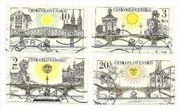 1978 - Cecoslovacchia 2278/79 + 2281/82 Ponti C2624, - Ponti
