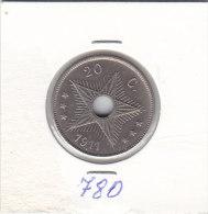 20 CENTIMES Cupro-nickel Albert I 1911 - Congo (Belge) & Ruanda-Urundi