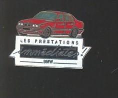 Pin´s -    VOITURE BMW   -  LES PRESTATIONS  IMMEDIATES - BMW