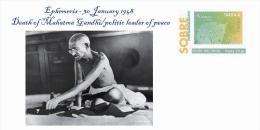 Spain 2013 - Personalities Of The History - Mahatma Gandhi/espiritual Leader Special Cover - Mahatma Gandhi
