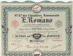Cannes  Société Des CHANTIERS AERONAVALS E Romano - Aviation