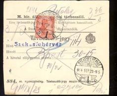 Hungary SZEKESFEHERVAR   1914   Telephonic - Ticket    Telefonische - Ticket     TELEPHONE RECEIPT   Tavbeszelo - Jegy - Télégraphes