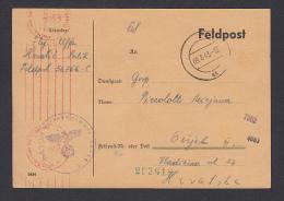 POSTAL CARD - WW II. Germany OKW Zensur - Censorship, Feldpost 56756 C, Year 1943 - Militaria