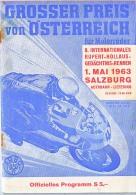 AK MOTORRÄDER 1.MAI 1963. SALZBURG AUTOBAHN-LIEFERING ZEITSCHRIFT Ab Seite 36 UND OFF.PROGRAMM - Motos
