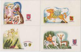 19065g  HAYEZ - Série 8 Cartes - Légendes Belges - Namur - Anvers - Flandre - Luxembourg - Hainaut - Illustrateurs & Photographes
