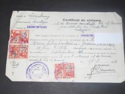 ARBREFONTAINE - BASTOGNE - CERTIFICAT DE CIVISME - Bonne Conduite N'a Pas Manqué à Ses Devoirs De Citoyens Durant Occupa - 1900 – 1949