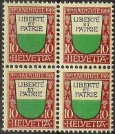 PJ 1919 Kantonswappen Waadt/Vaud Zu 13 Mi 150 Yv 174 Block ** MNH  (Zumstein CHF 60.00) - Pro Juventute