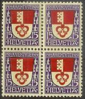 PJ 1919 Kantonswappen Obwalden Zu 14 Mi 151 Yv 175 Block ** MNH  (Zumstein CHF 80.00) - Pro Juventute