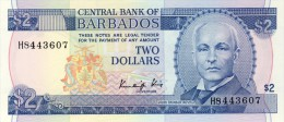 BILLET # BARBADE # 2 DOLLARS  # 1980  # PICK N° 35 - Barbades