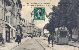 CPA Epernay - Station Du C.B.R. Du Jard - Tramway - Epernay
