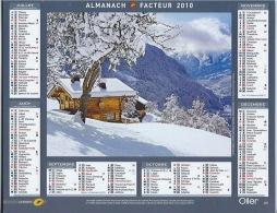 Almanach Du Facteur 2010  MONTAGNE - Calendars