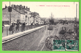 LIMOGES / AVENUE DE LA GARE ET GARE DES BENEDICTINS / Carte écrite En 1909 - Limoges