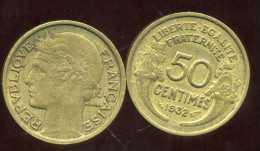 FRANCE  50 Centimes 1932 Morlon     ( Le 2 Fermé ) - G. 50 Centimes