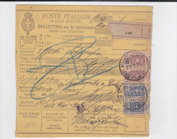 ITALIE  - 1926 - CARTE COLIS POSTAUX De NAPOLI - Paketmarken