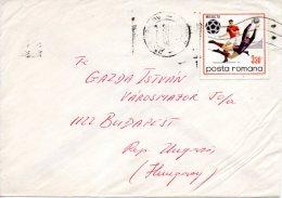 ROUMANIE. N°2542 De 1970 Sur Enveloppe Ayant Circulé. Coupe Du Monde De Foot.'70. - World Cup