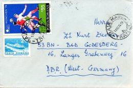 ROUMANIE. N°2848 De 1974 Sur Enveloppe Ayant Circulé. Coupe Du Monde De Foot.´74. - Coppa Del Mondo