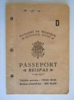 Belgïe Belgique Paspoort Passeport Reispas A Bayonne Juin 1940 Pour L´espagne Uitgereikt In Bayonne Voor Spanje WO2 - Documents Historiques
