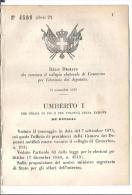 CAMERINO .CONVOCAZIONE  WELETTORALE  PER ELEZIONE DEPUTATO-R.D.N.4508-1878-X336 - Decreti & Leggi