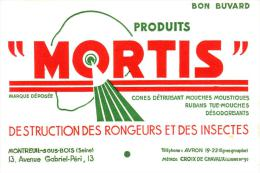 Buvard -mortis - Destruction Des Rongeurs Et Des Insectes - - Papel Secante