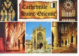 Metz : Cathédrale Saint Etienne Multivues Parchemin Vitraux Parvis Nef - Mage - Metz