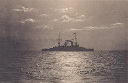 Kreuzer Auf See Vor Kiel, Marine, Kriegsschiff, Um 1905 - Ausrüstung