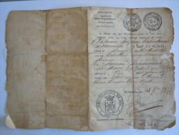 Belgïe Belgique Trouwboekje (blad) 1877 Gent Familie Danneels - D'Havé Hersteld Reparé Livre De Marriage (feuille) - Historical Documents