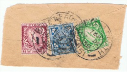 Irlande:3 Timbres Sur Fragments. - 1937-1949 Éire