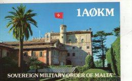 SOVRANO  MILITARE  ORDINE DI MALTA  ,  QSL  ,  Radioamatori - Malte