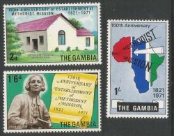 Gambia. 1971 150th Anniv. Of Establishment Of Methodist Mission. MH Complete Set - Gambia (1965-...)