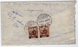 HONGRIE - LETTRE  AVEC PAIRE DU N°438  - Du 10/03/1931  Pour Paris - Hungary