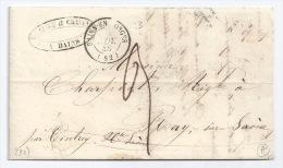 MP BAINS VOSGES POUR RAYE SUR SAONE / 15 NOV 1848 / TAXE 3 DECIMES - Postmark Collection (Covers)